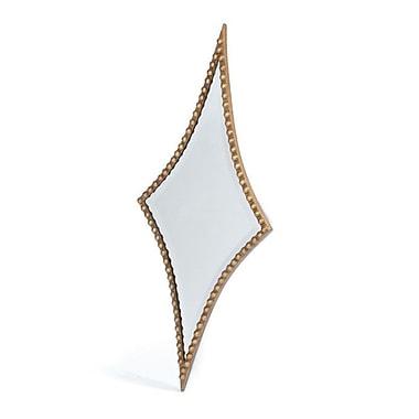 Brayden Studio Diamond Antiqued gold Mirror