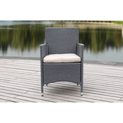 Brayden Studio Mcmillen Chair w/ Cushions; Titanium