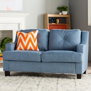Brayden Studio Darion Loveseat; Light Blue
