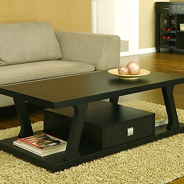 Brayden Studio Templeville Coffee Table; Black