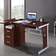 Brayden Studio Albany Computer Desk; Chocolate