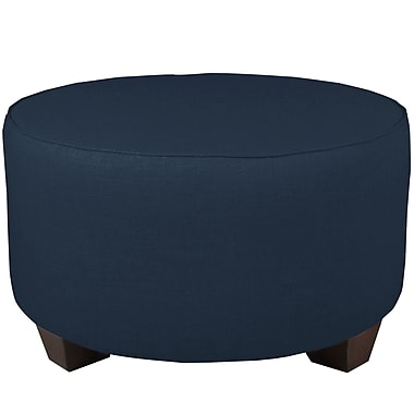 Brayden Studio Round Cocktail Ottoman; Navy