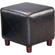 Brayden Studio Svendsen Foot Stool; Black
