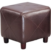 Brayden Studio Svendsen Foot Stool; Dark Brown