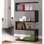Brayden Studio Ignacio 63'' Accent Shelves Bookcase; Black