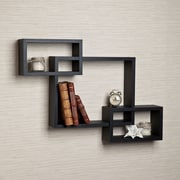 Brayden Studio 3 Intersecting Wall Shelf; Black