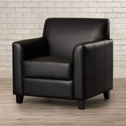 Brayden Studio Diplomat Leather Lounge Chair; Black