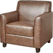 Brayden Studio Diplomat Leather Lounge Chair; Brown