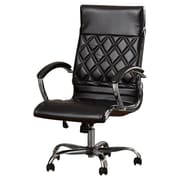 Brayden Studio Camp Mabry Leather Executive Chair; Black
