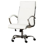 Brayden Studio Camp Mabry Leather Executive Chair; White