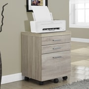 Brayden Studio Canipe 3-Drawer Mobile Lateral File; Natural