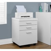 Brayden Studio Canipe 3-Drawer Mobile Lateral File; White