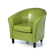 Brayden Studio Karp Barrel Bonded Leather Lounge Chair; Lime Green
