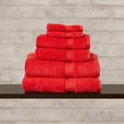 Brayden Studio Superior 6 Piece Towel Set; Red
