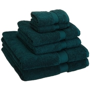 Brayden Studio Superior 6 Piece Towel Set; Teal