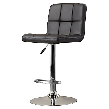Brayden Studio Lucht Adjustable Height Swivel Bar Stool; Black
