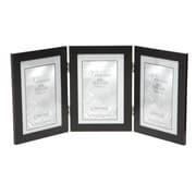 Brayden Studio Ponce Hinged Triple Picture Frame; Black