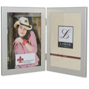 Brayden Studio Boyle Hinged Double Picture Frame; Brushed Satin Silver
