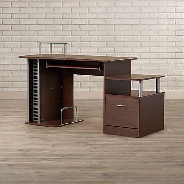 Brayden Studio Bathwick Computer Desk; Chocolate