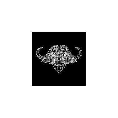 Naxart 'Black Buffalo Mesh' Graphic Art Print on Canvas; 36'' H x 36'' W x 1.5'' D
