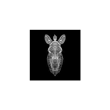 Naxart 'Black Zebra Head Mesh' Graphic Art Print on Canvas; 24'' H x 24'' W x 1.5'' D