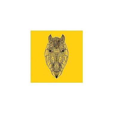 Naxart 'Horse Head Yellow Mesh' Graphic Art Print on Canvas; 40'' H x 40'' W x 1.5'' D