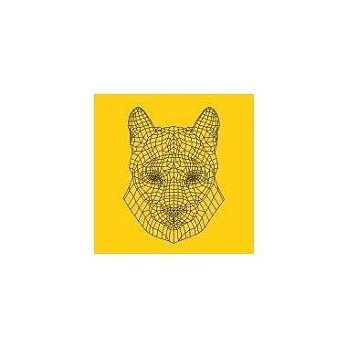 Naxart 'Mountain Lion Yellow Mesh' Graphic Art Print on Canvas; 24'' H x 24'' W x 1.5'' D