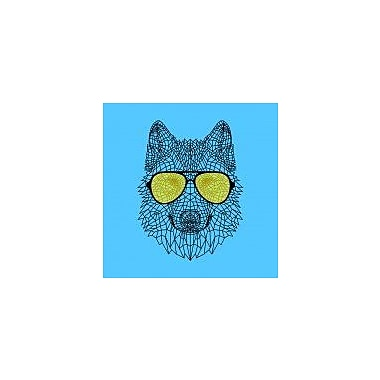 Naxart 'Woolf in Yellow Glasses' Graphic Art Print on Canvas; 18'' H x 18'' W x 1.5'' D