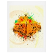 East Urban Home Orange Butterfy Painting Print; 24'' H x 18'' W x 0.13'' D