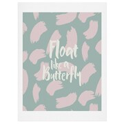 East Urban Home Float Like a Butterfly Textual Art; 24'' H x 18'' W x 0.13'' D