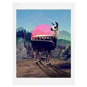 East Urban Home Llama Van Graphic Art; 24'' H x 18'' W x 0.13'' D