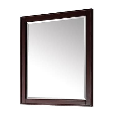 Red Barrel Studio Chesterville Rectangle Brown Wood Wall Mirror; 28''