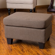 Red Barrel Studio Cranbrook Jae Ottoman; Chocolate Brown