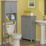 Red Barrel Studio Kings Carriage 28.38'' W x 64'' H Over the Toilet Storage; Gray