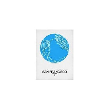Naxart 'San Francisco Street Map Blue' Graphic Art Print on Canvas; 40'' H x 30'' W x 1.5'' D