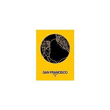 Naxart 'San Francisco Street Map Yellow' Graphic Art Print on Canvas; 16'' H x 12'' W x 1.5'' D