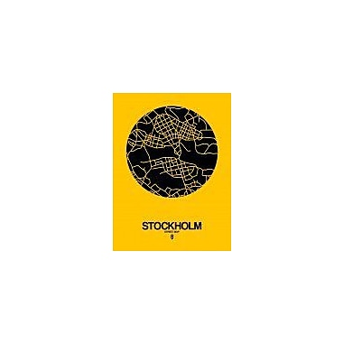 Naxart 'Stockholm Street Map Yellow' Graphic Art Print on Canvas; 16'' H x 12'' W x 1.5'' D