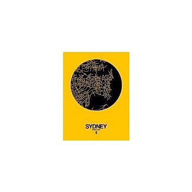 Naxart 'Sydney Street Map Yellow' Graphic Art Print on Canvas; 40'' H x 30'' W x 1.5'' D