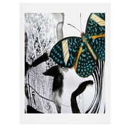 East Urban Home Ink Black Butterfly by Deb Haugen Graphic Art; 24'' H x 18'' W x 0.13'' D