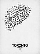 Naxart 'Toronto Street Map White' Graphic Art Print on Canvas; 32'' H x 24'' W x 1.5'' D