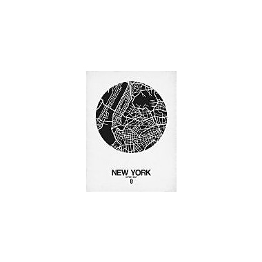 Naxart 'New York Street Map Black and White' Graphic Art Print on Canvas; 40'' H x 30'' W x 1.5'' D