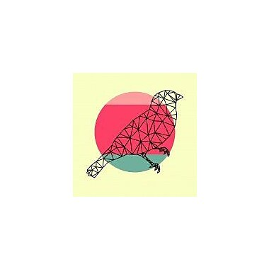 Naxart 'Bird and Sunset' Graphic Art Print on Canvas; 18'' H x 18'' W x 1.5'' D