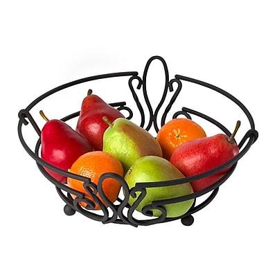 Fleur De Lis Living Cynthia Fruit Basket; Black