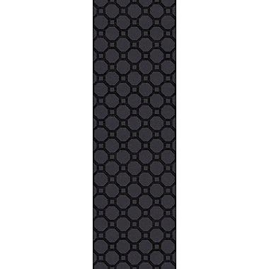 Brayden Studio Wrington Hand-Woven Black Area Rug; Runner 2'6'' x 8'