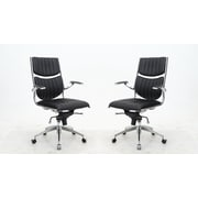 Brayden Studio High-Back Executive Chair (Set of 2); Black