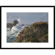 'Pounding Waves and Rocky Shoreline at Piedras Blancas, California' Framed Photographic Print