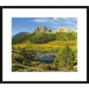 'Pond and Green Mountain, Green Mountain National Forest, Colorado' Framed Photographic Print