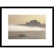 'Fog Bank Hugging Foot of Icy Mountains, Gerlache Strait, Antarctica' Framed Photographic Print