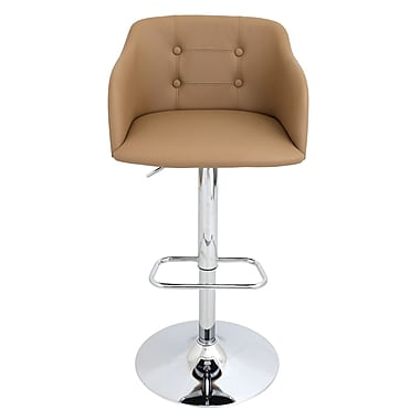 Brayden Studio Duerr Adjustable Height Swivel Bar Stool; Camel