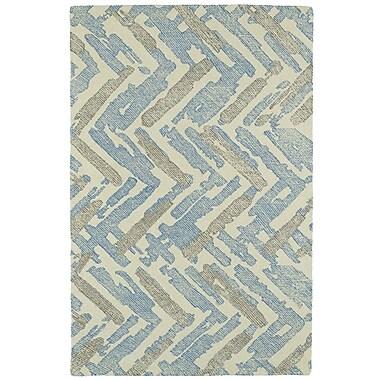 Brayden Studio Louane Hand-Tufted Beige/Blue Area Rug; 8' x 10'